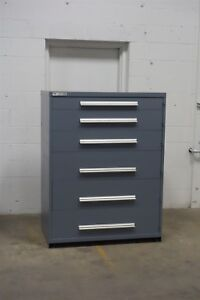 Used Vidmar 6 Drawer Cabinet Industrial Tool Storage Box 45 Wide 1228 Heavy