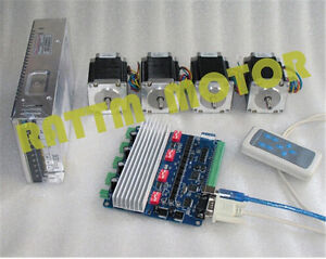 4 Axis Nema23 270oz in Stepper Motor 76mm 3a tb6560 Usbcnc Driver Cnc Router Kit