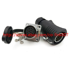 12pin Waterproof Connector High Voltage Power Plug Socket Aviation Connector