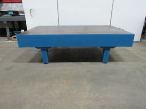 3 4 Thick Top Steel Fabrication Layout Welding Table Work Bench 96 x57 x27 1 2