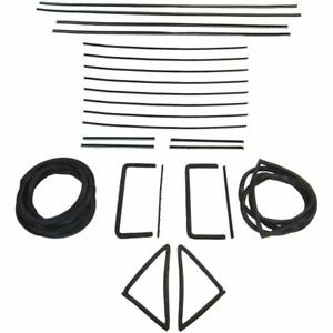 1955 1956 Cadillac Series 62 Sixty Special 4dr Sedan Glass Weatherstrip Seal Kit