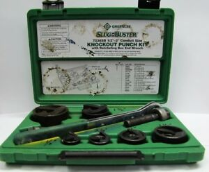 Greenlee Slug Buster 1 2 2 Conduit Knockout Punch Kit 7238sb