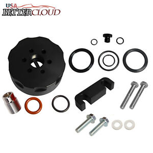 Cat Fuel Filter Adapter Spacer Bleeder Seal Kit Black For 01 06 Chevy Duramax