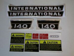 Ih International Farmall Tractor 140 Decal Set Complete