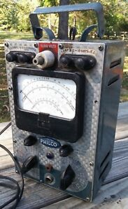 Vintage Philco Electronic Circuit Master Model 7001 Volt Ohm Meter Shell Swirl