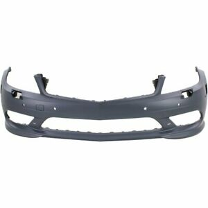 Front Bumper Cover For 2008 09 Mercedes Benz C230 W Amg Hlw Parktronic Drl Holes