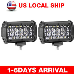 5 216w Led Work Pod Driving Light Bar Spot Combo Fisheye Fog Lamp Offroad Truck