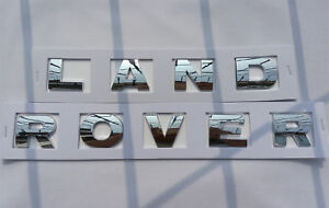 New Land Rover Chrome 3m Letters Hood Or Trunk Tailgate Emblem Badge Nameplate