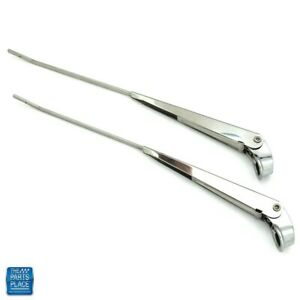 1967 1972 Chevy Pickup C10 Windshield Wiper Arms Stainless Steel Polished Pr