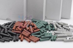 Dental Lab Beauty Silicone Rubber Polishing Burs Polishers 400pcs 4colors