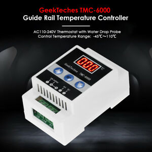 110 240v Digital Thermometer Guide Rail Thermoregulator Temperature Controller