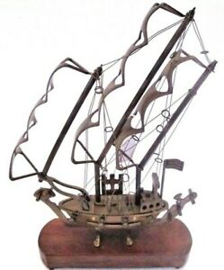 Vintage Style Marine Brass Ship Vessel Boat Model Nautical Maritime 1424