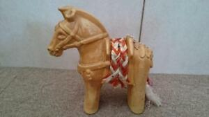 Horse Japanese Style Ornament Pottery Made Clay Wheel Second Hand Goods Ems F S