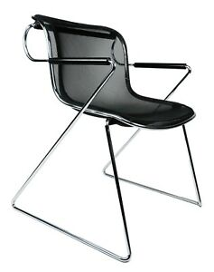 Set Of 5 Charles Pollock Penelope Chairs In Chrome And Steel Wire For Castelli