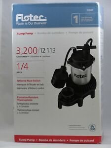 Flotec Submersible Thermoplastic Sump Pump 1 4 Hp fpzs25t
