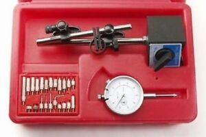 Dial Indicator Gauge Magnetic Base Set Test Precision Starrett With On off New