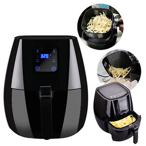 3 7qt Big Multifunction Air Fryer Electric No Oil Programmable Timer Temperature