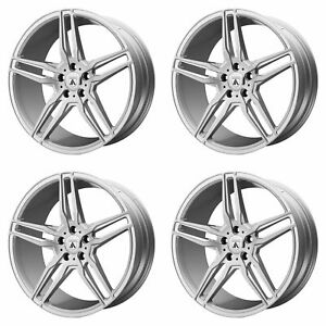 4x Asanti 19x9 5 Abl 12 Orion Wheels Brushed Silver Carbon Fiber 5x120 45mm