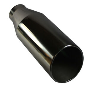 4 Inlet 7 Outlet 18 Long Chrome Stainless Steel Bolt On Diesel Exhaust Tip