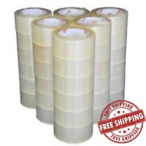 Box Carton Sealing Packing Packaging Tape 55 Yard 2mil Thick Clear Type 36 Rolls