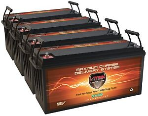 Qty4 Slr200 12v 200ah Solar Wind Power Backup Agm Deepcycle Highcapacity Battery