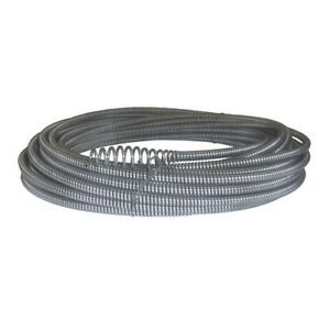 Hallow Core Drain Cleaning Cable 5 16 Inch X 50 Ft Bulb Auger Plumbing Snakes