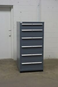 Used Lista 6 Drawer Cabinet Industrial Tool Storage Box 1235 Vidmar