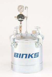 Binks Paint Tank 2 8 Gal Zinc Plated Steel Pressure Pot 83c 210