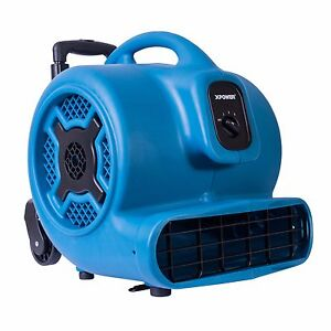 Xpower P 800h 3 4 Hp Commercial Grade Air Mover Carpet Dryer W Handle