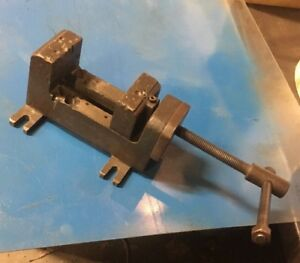 Vintage Drill Press Vise Machinist Mill Tool Maker 3 Wide Deep Jaw Palmgren