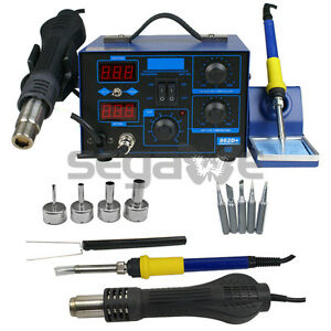 Used Pro 2in1 862d Smd Soldering Iron Hot Air Rework Station W 4 Nozzles