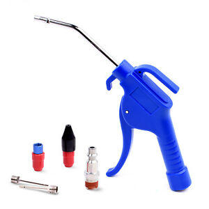 Air Blow Gun Kit With 4 Inch Extended Nozzle Rubber Tip And Inflation Needles
