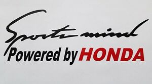 Sports Mind Powered By Honda Decal Hood Or Body Decal Car Window Sticker
