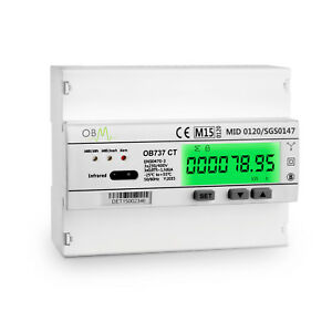 Ob737 Multifunction 3 Phase Ct Modbus Mid B D Import Export Solar Pv Meter