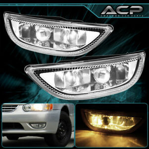 2001 2002 Toyota Corolla Jdm Clear Lens Chrome Housing Fog Light Lamp Upgrade