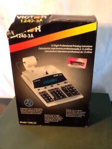 Victor 12 Digit Professional Printing Calculator Vct12403a