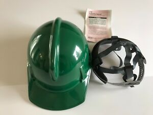 Msa 475383 Green Topgard Slotted Hard Hat Protective Cap Staz on Suspension