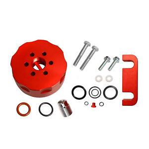 For Chevy Duramax Cat 6 6l Diesel Fuel Filter Adapter Spacer Bleeder Seal Red