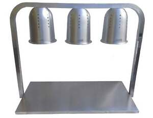 3 Lamp Plate Warmer Three Light Carvery Food Display Station Buffet Pub Catering