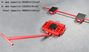 Steerable Machinery Moving Skate Roller Kits 18t Capacity New Arrival