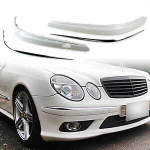 Front Bumper Moulding Stripe With Chrome Trim For Mercedes Benz W211 Unpainted