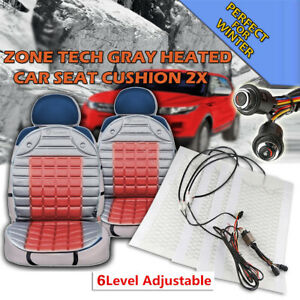 Universal 6level Switch Carbon Fiber Seat Heater Knob Heated Seat Cover Pads 12v
