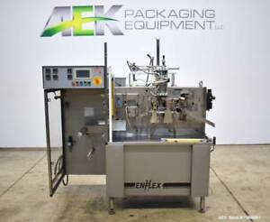 Used Enflex Model F11t Horizontal Form Fill Seal Pouch Machine With Liquid Pist