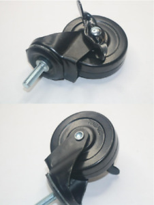 Lot Of 4 Stem Casters With Brakes 76 2 X 25
