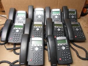 Lot Of 10 Polycom Soundpoint Ip 335 Telephones With Headset