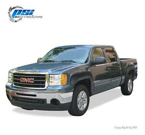Black Textured Oe Style Fender Flares 07 13 Gmc Sierra 1500 Short Bed 69 3 Only