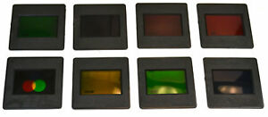 Eisco Labs Mounted Color Filters 7 Monochromatic And 1 Tri color