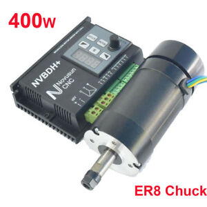 400w Er8 Chuck Cnc Brushless Spindle Motor Driver Kit nvbdh Lcd Control Panel