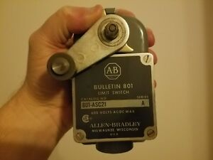 Allen Bradley 801 asc21 Limit Switch Roller Lever Arm Snap Series A