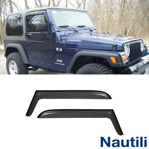 2pcs For 97 06 Jeep Tj Wrangler Sun Rain Guard Vent Shade Deflector Window Visor